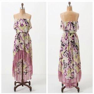 Lilka Anthropologie Ostara Strapless Hi Low Dress